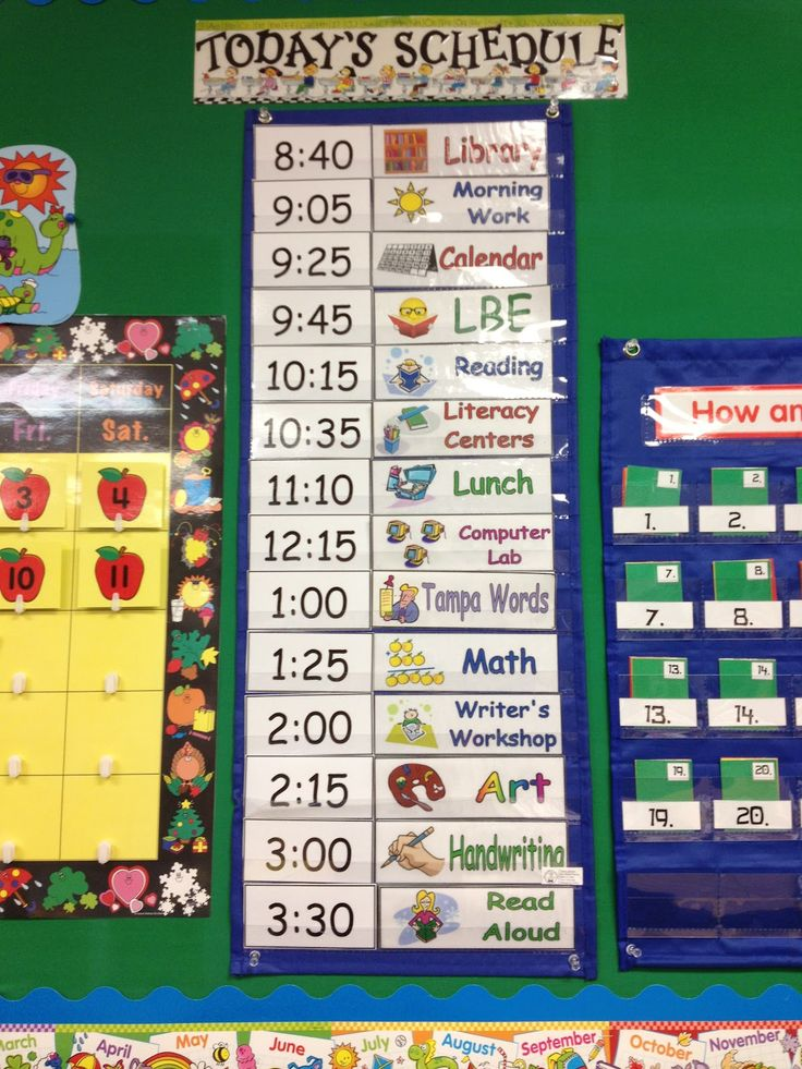 Daily Calendar Kindergarten : Daily schedule ideas for pre k mrs sarah s classroom