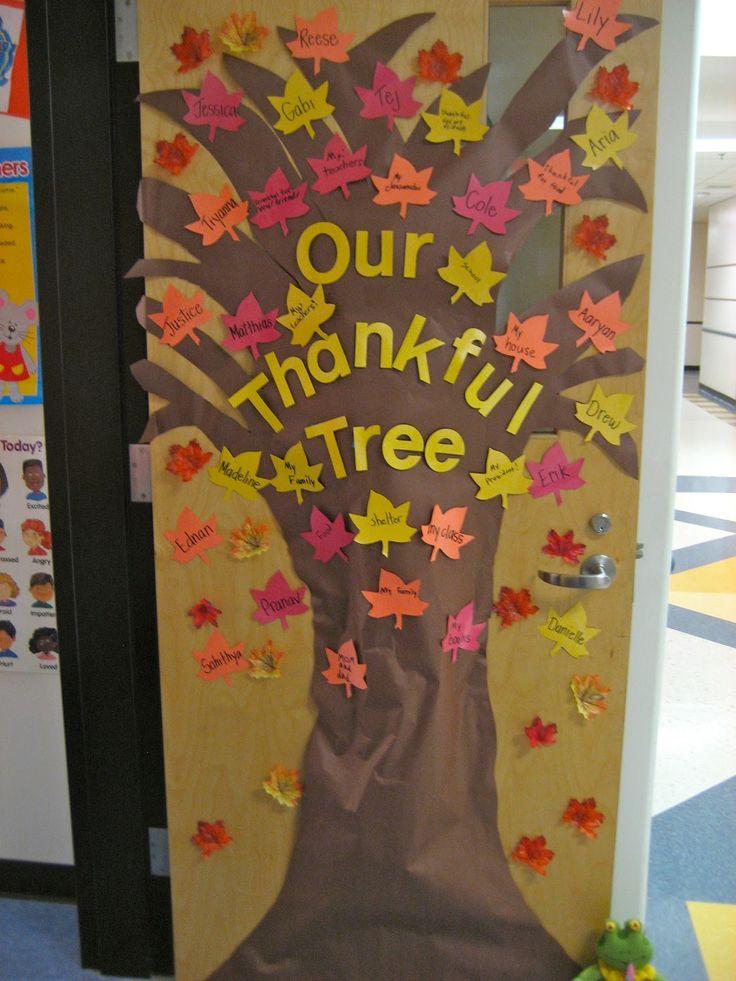 Door decorations for thanksgiving for Idea door files