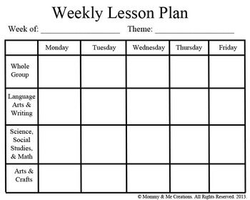 Lesson Plan Templates Mrs Sarahs Classroom Blog - Language lesson plan template